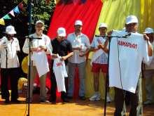 Вручение футболок с надписью Хамăрьял