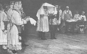 Чувашский свадебный обряд. Из фондов Чувашского национального музея.
