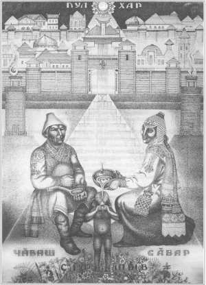 Графическая композиция Ф. И. Мадурова «Пулхар»