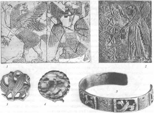 Изображения демона темного мира Тиамат (Хаямат) на археологических находках