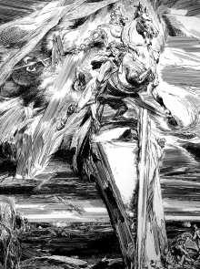 Агеев В. И. Памятник суварскому народному герою Чемень. 2002 г. Б., тушь, 42х36.