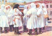 Бычков В.П. Чуваши на базаре в Чебоксарах