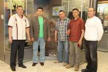 Слева направо: Абукар, Геннадий Максимов, Юрий Ювенальев, Владимир Алмантай, Тӑхтаман Егоров