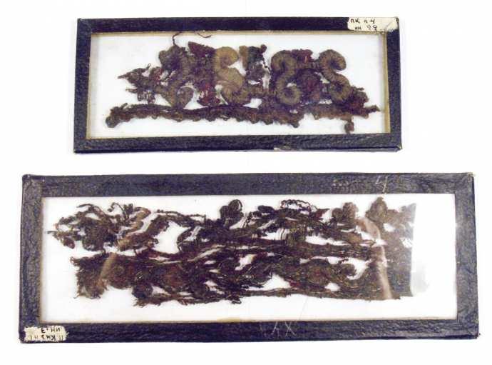 Рис. 11 а, 6. «Кружева» из Полевых Козыльяр. XVII век