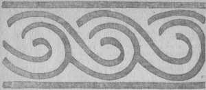 Заставка IV главы, орнамент сосуда — из раскопок Сувара, — коллекция ГИМ, стр. 55.