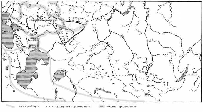 Рис. 106. Карта: Восточная Европа в VIII—XIII веков.
